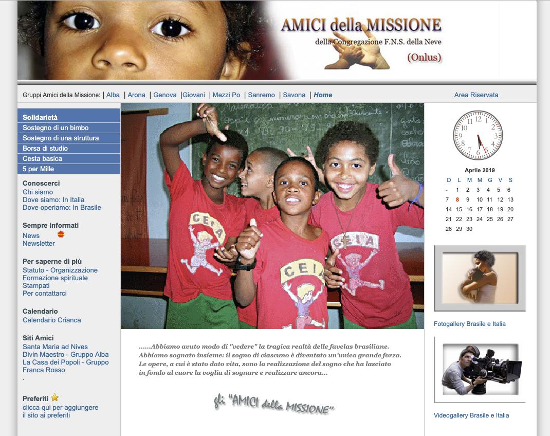 Sito associazione amici della missione